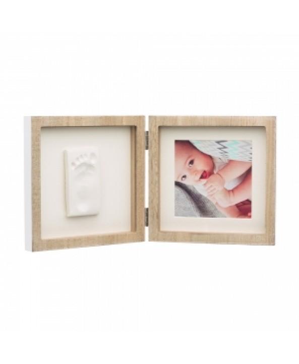 Baby Art Отпечатък със снимка My Baby Style Baby Art - цвят дърво; бяло паспарту