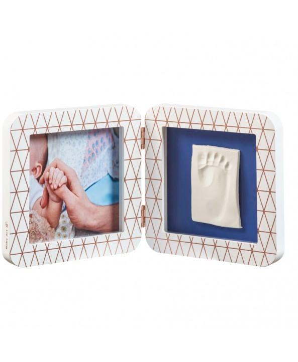 Baby Art Отпечатък - BABY ART Print квадратен -  бяла/сива + декор рамка