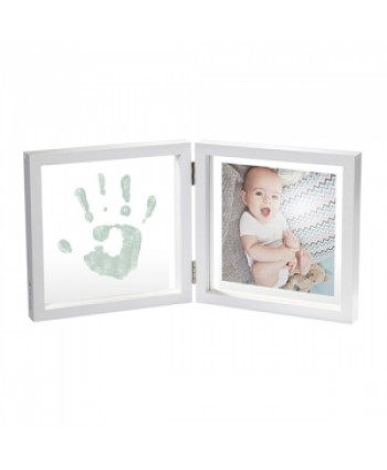Baby Art Отпечатък с боя + снимка (бяла рамка, прозрачно паспарту) My Baby Style