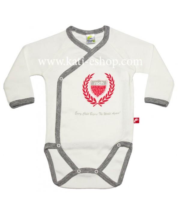 Бебешко боди със странично закопчаване RACH екрю 3-136
