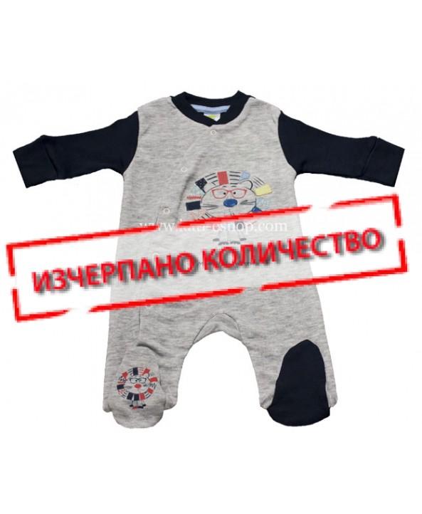 Бебешки гащеризон RACH сив 3-083