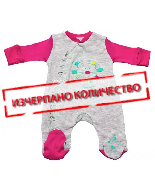 Бебешки гащеризон RACH сив 3-080