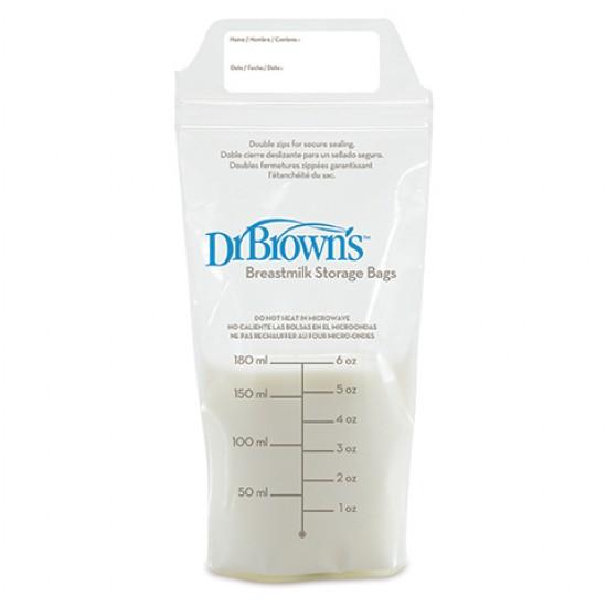 Dr. Brown's  Торбички за съхранение на кърма 180 ml, 25 броя