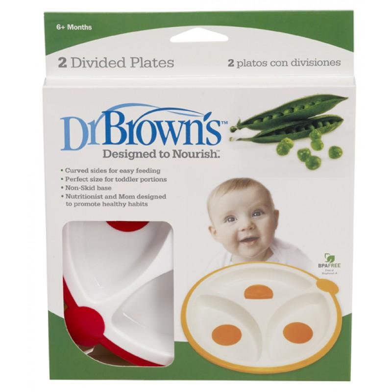 Dr. Brown's  Порционни чинии, 2 броя