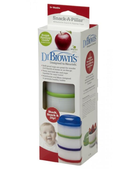 Dr. Brown's  Купички за пренасяне на твърди и течни храни