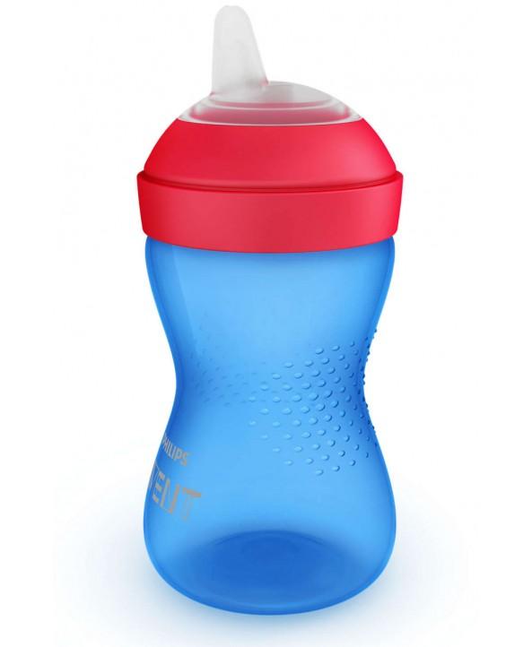 AVENT Чаша с мек накрайник 300ml 9м+ Синя
