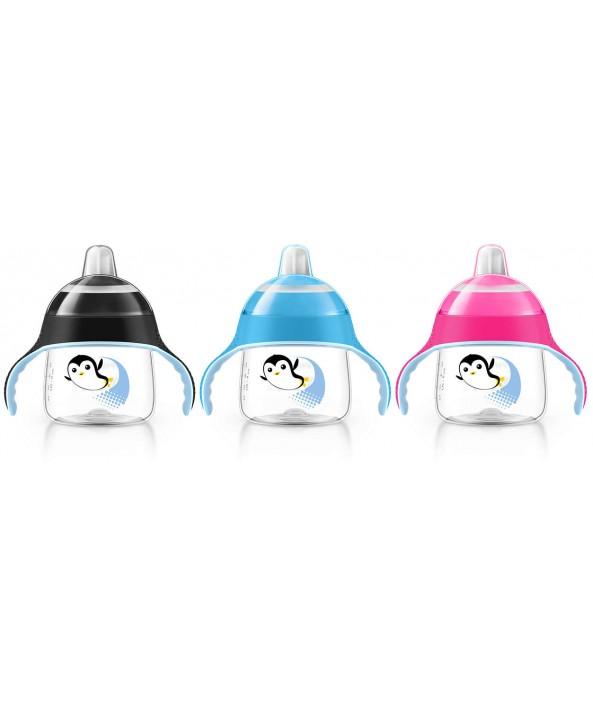 AVENT  Неразливаща се чаша с мек накрайник 200ml - Пингвин