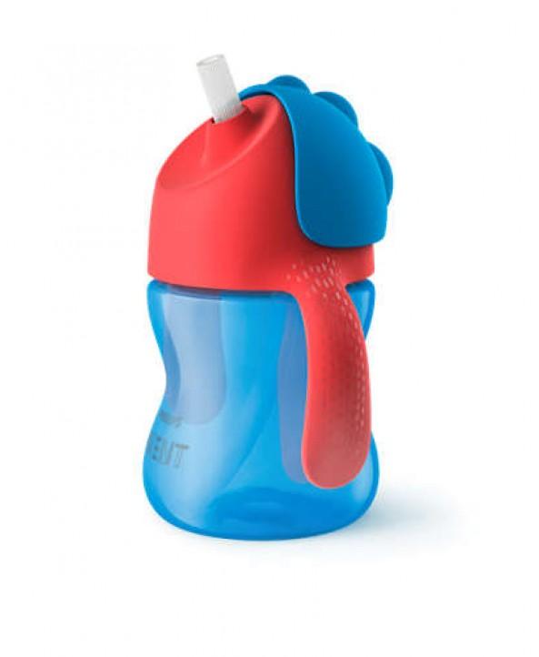 AVENT  Чаша със сламка 200ml 9м+ Синя
