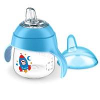 AVENT Неразливаща се чаша с мек накрайник 6м. 200ml - Синя