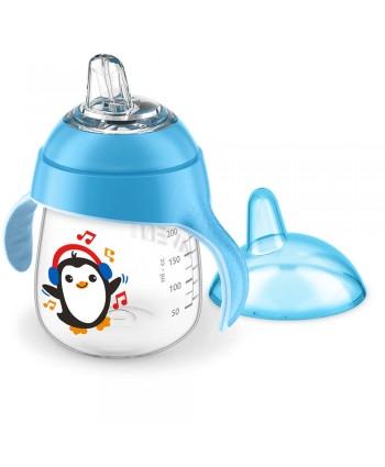 AVENT Неразливаща се чаша с мек накрайник 12м. 260ml - Синя