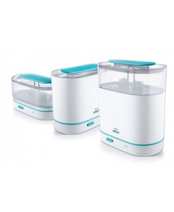 AVENT Единична електрическа помпа Natural Motion Premium + Електрически стерилизатор 3-в-1 + Комплект за новородено Natural PP