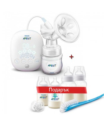 AVENT Електронна помпа за изцеждане на кърма Easy Comfort с подарък - AVENT Комплект за новородено Anti-Colic с клапа Anti-Colic Airfree