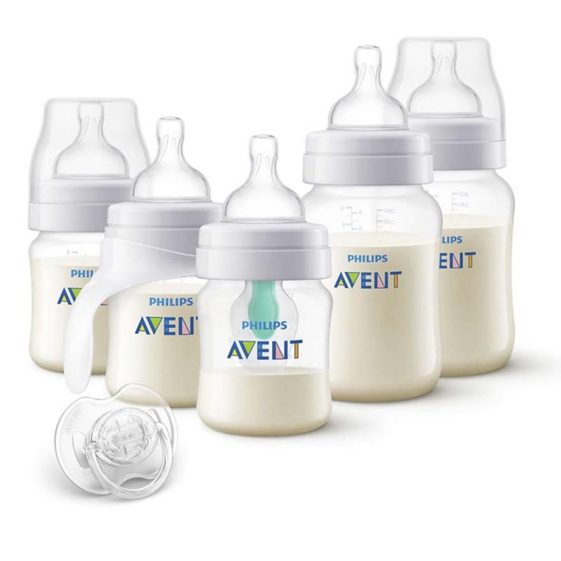AVENT Единична електрическа помпа Natural Motion Premium + AVENT Електрически стерилизатор Advanced + Комплект за новородено Anti-Colic Airfree с тренировъчно шише