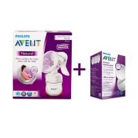 AVENT Ръчна помпа за изцеждане – Comfort + подарък eднократни подплънки 24бр.