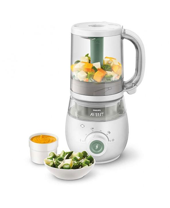 AVENT Комбиниран уред за здравословна бебешка храна 4 в 1 с подарък - AVENT Комплект за хранене