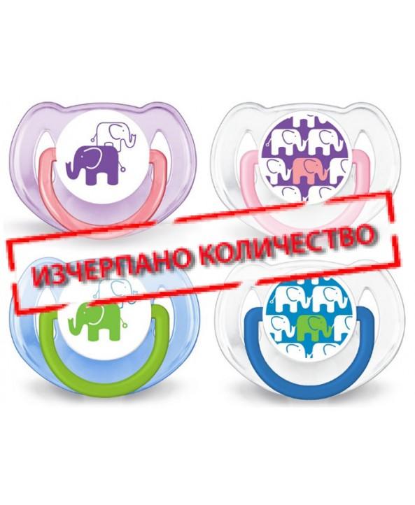 AVENT Залъгалки слонче 6-18 месеца - 2бр./оп. - Avent