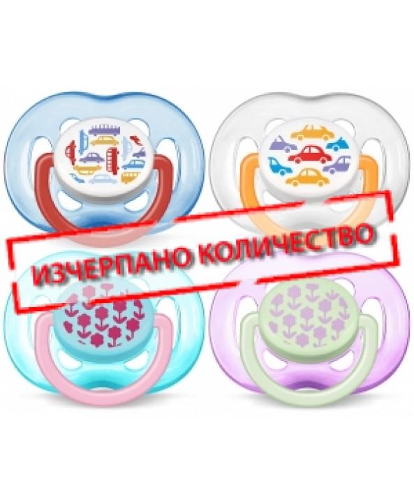 AVENT  Залъгалки с картинки – (нов дизайн) 6-18 месеца, 2бр./оп.