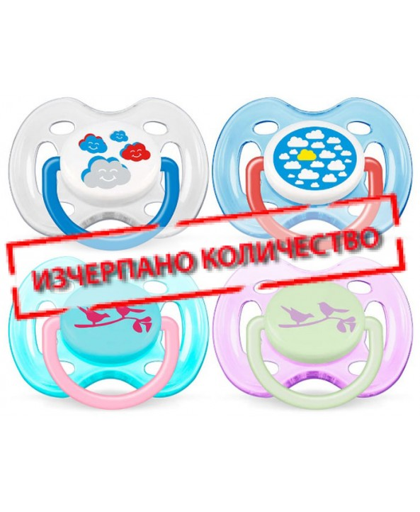 AVENT  Залъгалки с картинки – (нов дизайн) 0-6 месеца, 2бр./оп.