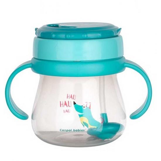 CANPOL Чаша със сламка 9м. 250ml