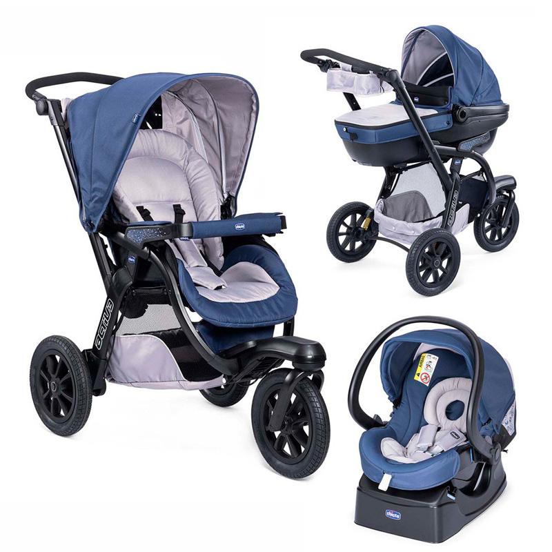 Chicco Комбинирана количка Трио ACTIVE - BLUE PASSION
