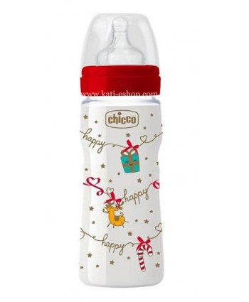 Chicco Коледно шише  330мл Limited Edition