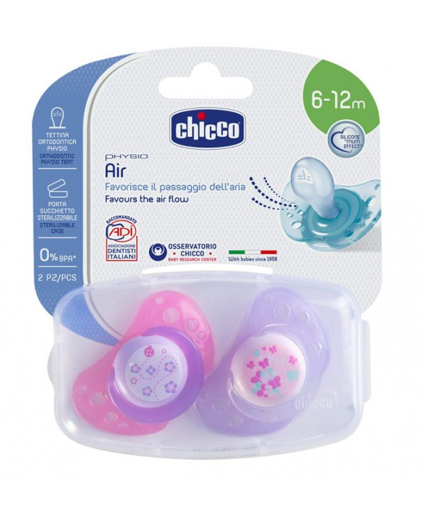 Chicco Залъгалка силикон PHYSIO AIR  6+ 2 бр.