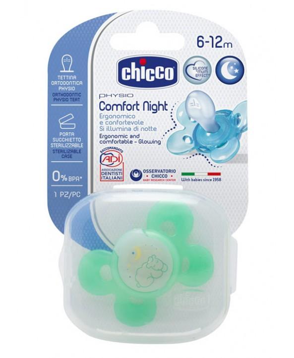 Chicco Светеща залъгалка силикон PHYSIO COMFORT 6+