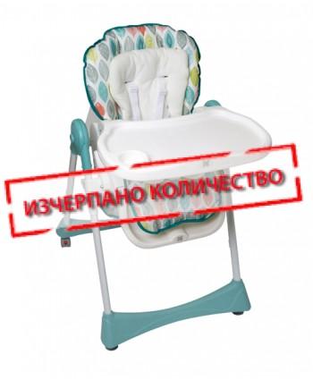 Kikkaboo Столче за хранене RETRO GARDEN Leaves Blue