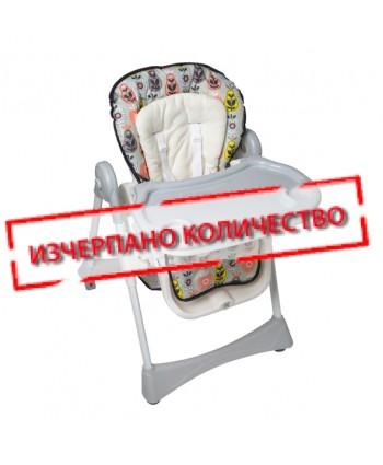 Kikkaboo Столче за хранене RETRO GARDEN Pears Grey
