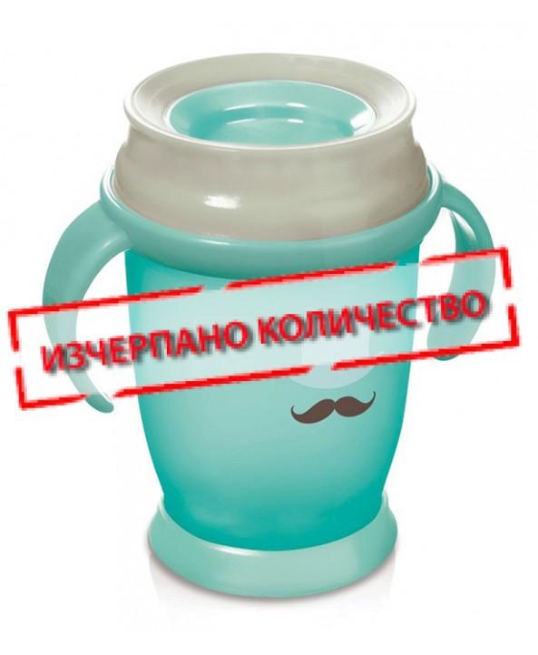 Lovi Неразливаща чаша с дръжки 360° RETRO 250ml 12m+