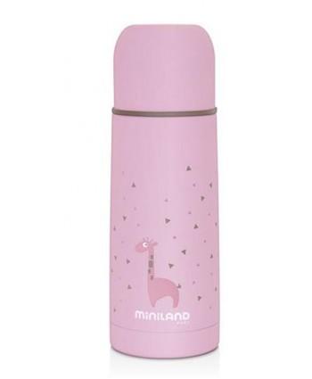 Miniland Термос с меко покритие 350 мл - розов