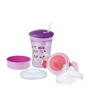 NUK СЕТ Evolution Cups All-in-one -Момиче