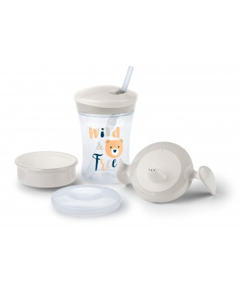 NUK СЕТ Evolution Cups All-in-one - Бял