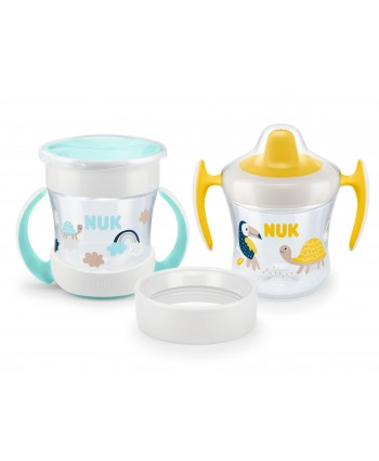 NUK Сет Mini Cups 3in1 - неутрал