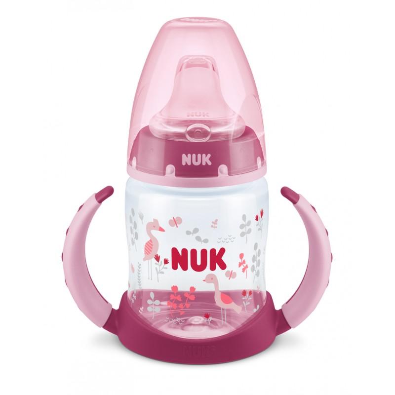 NUK FC РР Шише 150мл с накрайник силикон за сок 6+ - момиче