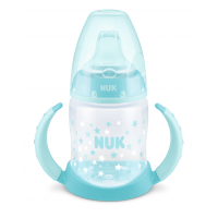 NUK FC РР Шише 150мл с накрайник силикон за сок 6+ - момче