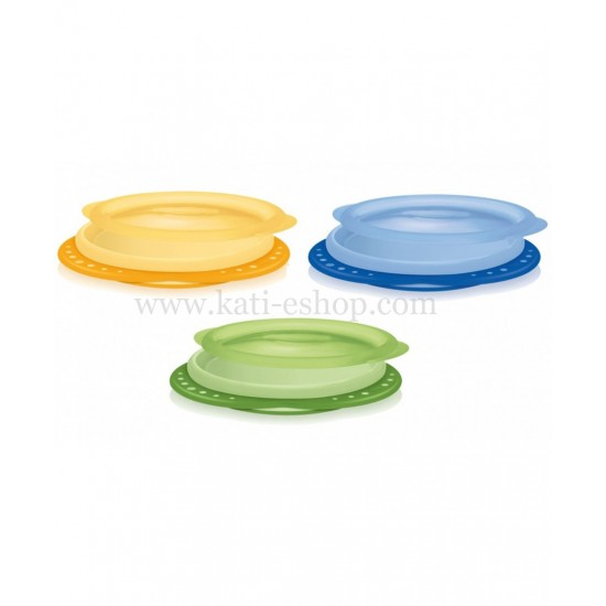 NUK Пластмасова чинийка с капак