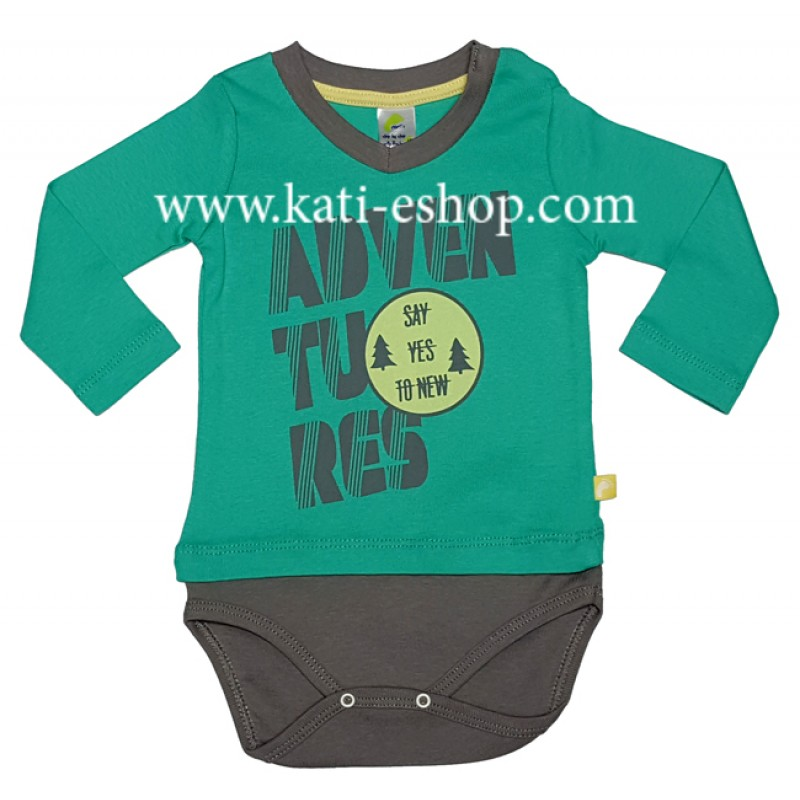 RACH Бебешко боди с дълъг ръкав зелено 3-384