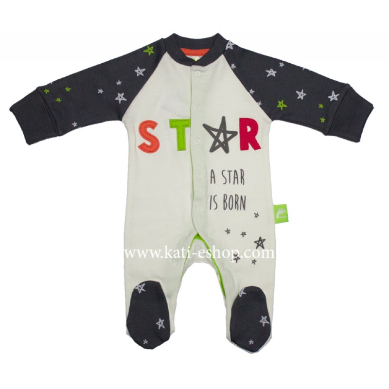 "RACH Бебешки гащеризон за момче ""STAR IS BORN"" 3-1152"