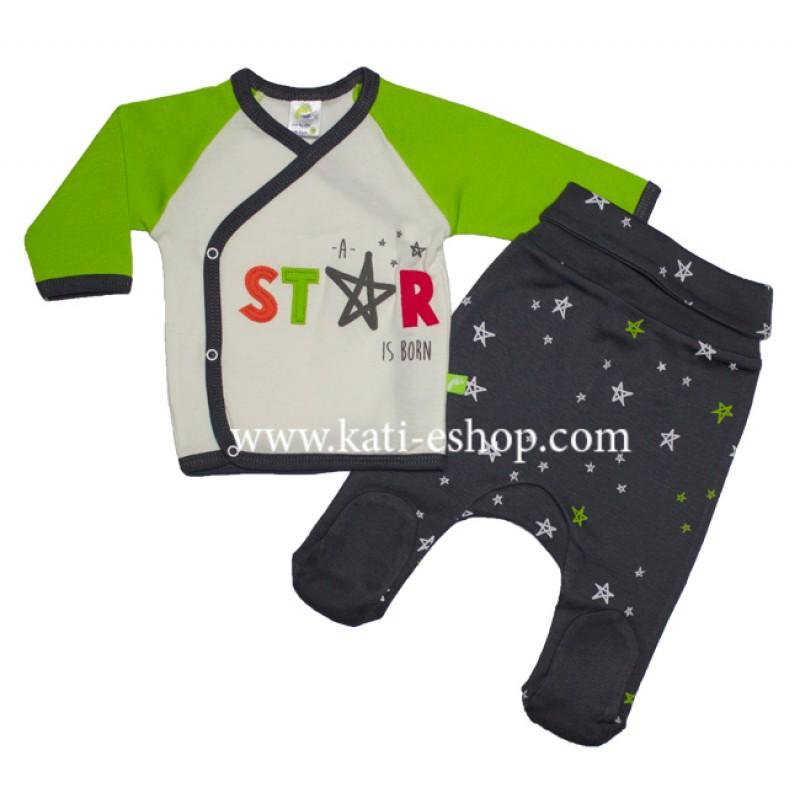 "RACH Комплект жилетка с ританки за момче ""STAR IS BORN""  3-1145"