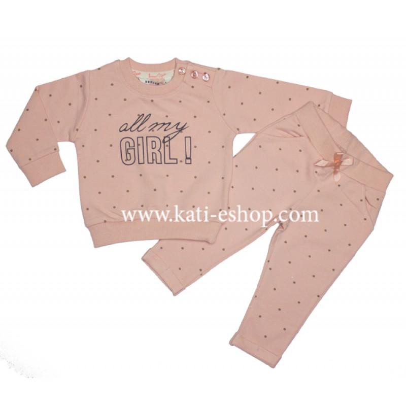 BREEZE Бебешки комплект за момиче 8-1147