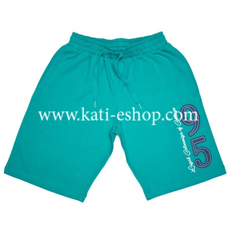 E&H Памучни къси панталони за момче тюркоаз 5-198