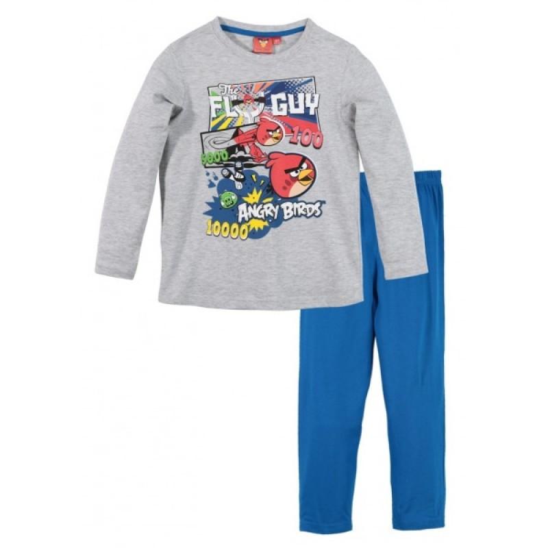 "DISNEY Пижама за момче с дълъг ръкав ""Angry Birds"" сива 2-102"