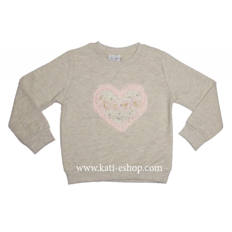 BREEZE Плътна блуза за момиче 6-1413