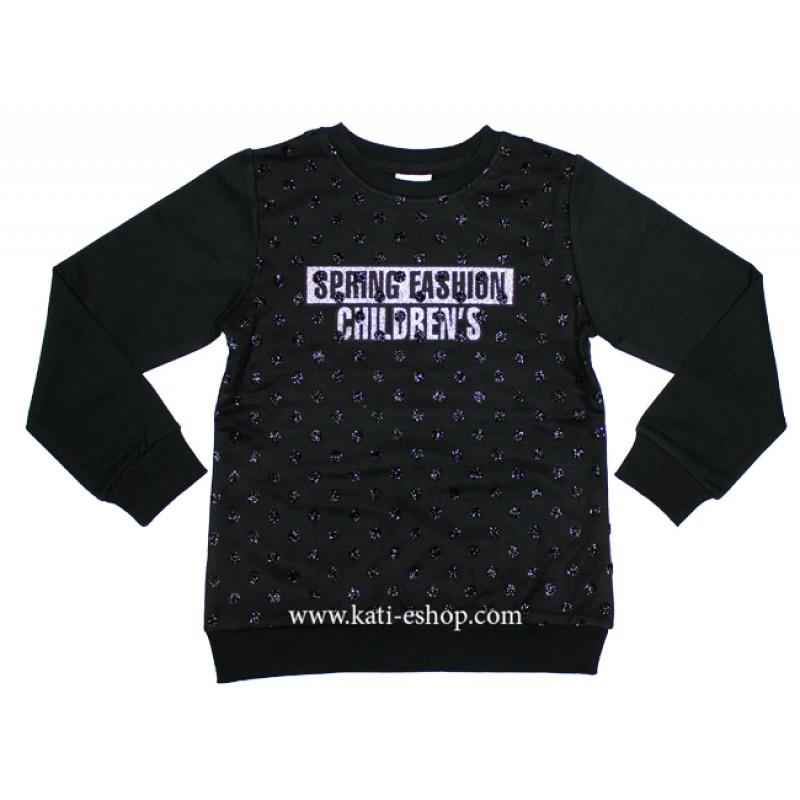 BREEZE Черна блуза за момиче 6-1425