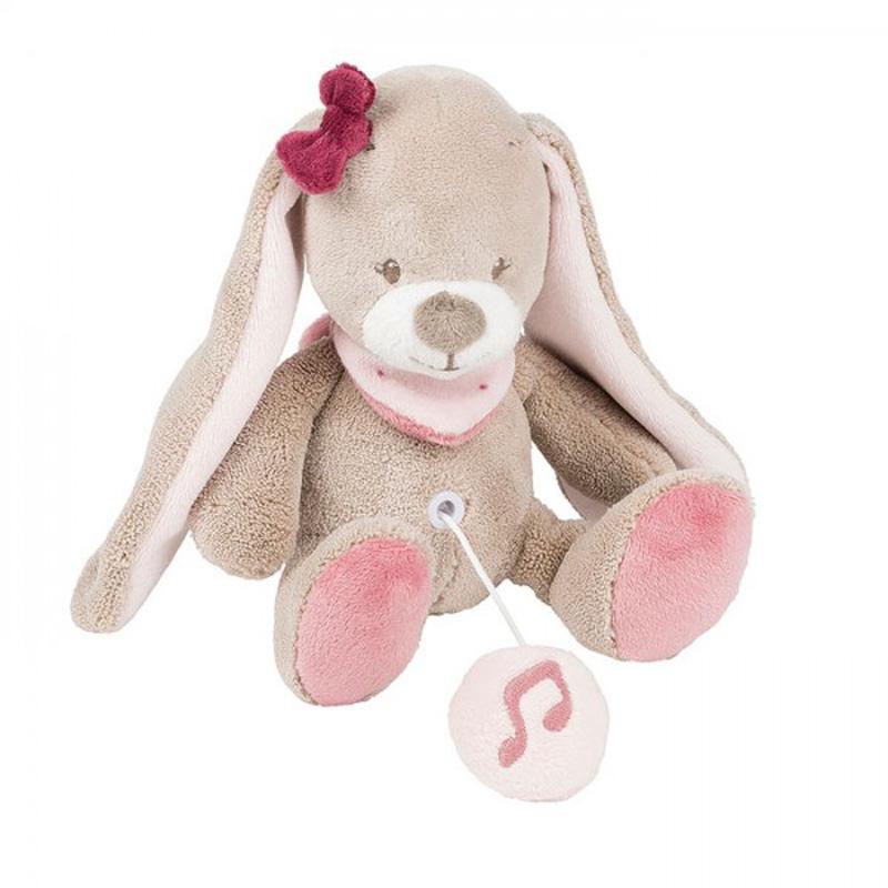 Nattou Мека музикална играчка Зайче Нина