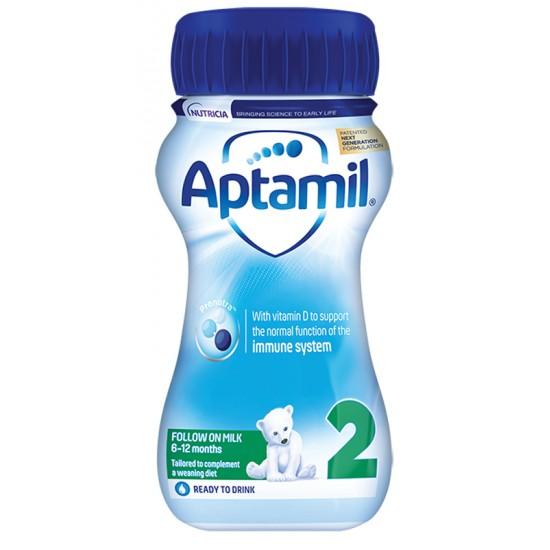 APTAMIL 2 Liquid Мляко течна формула 6м.+ 200мл