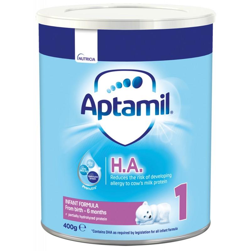 APTAMIL НА 1  хипоалергенно  мляко за кърмачета за намаляване риска от развитие на алергия 0-6м. 400г