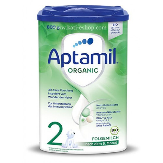 APTAMIL ORGANIC 2 Преходно мляко за кърмачета 6м.+ 800г