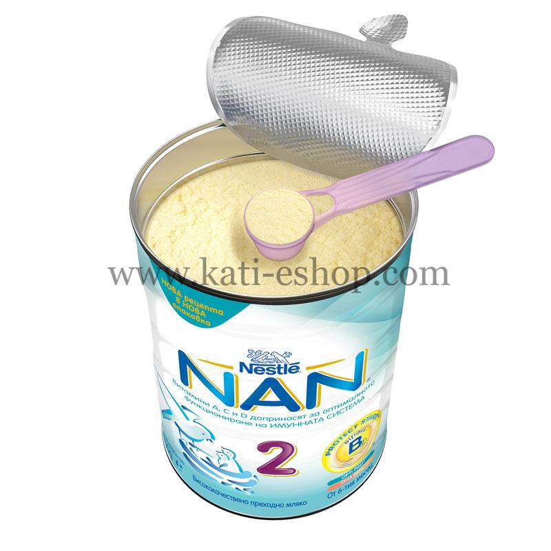 NAN 2 Преходно мляко 6-12м. 800г